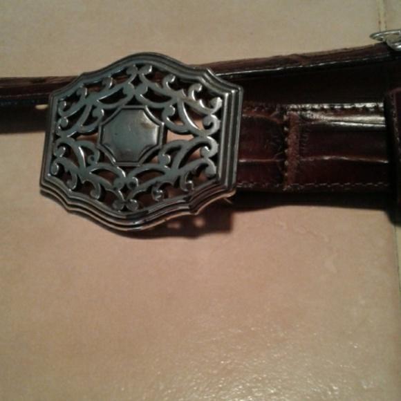 Brighton Accessories - Brighton Brown Leather Belt Size Large 34